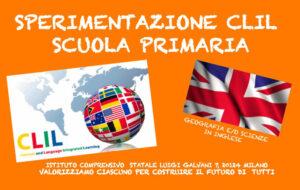 Dal 1° febbraio 2021 tutte le classi della scuola primaria dell'I.C. Galvani inizieranno il PROGETTO di SPERIMENTAZIONE CLIL