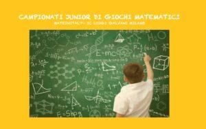 Campionati junior di giochi matematici per le quarte e quinte classi della scuola primaria